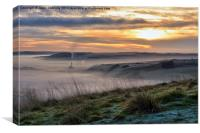 Sunrise Over Hope Valley, Canvas Print