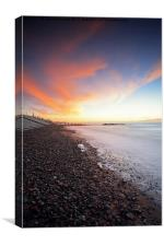 Fylde Coast Sunset, Canvas Print