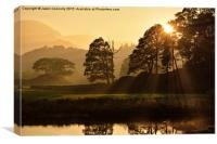 Brathay Golden Hour, Canvas Print