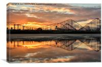 A Roller Coaster Sunrise, Canvas Print
