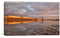 Blackpool reflections, Canvas Print