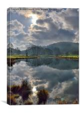 River Brathay Reflections, Canvas Print