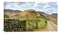 En route To Bowfell, Canvas Print