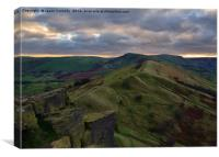 Mam Tor Vista, Canvas Print