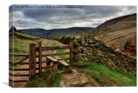 Edale valley, Canvas Print