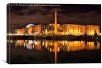 Liverpool Albert Docks, Canvas Print