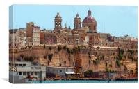 Valetta Grand Harbour, Canvas Print