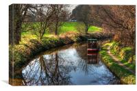 Narrowboat on the Union Canal, Canvas Print