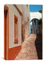 Albufeira Alleyway, Canvas Print