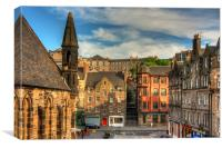 The Grassmarket from Granny Greens Steps, Canvas Print