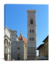Campanile Tower and Duomo, Canvas Print