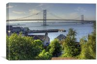 Forth Road Bridge and Harbour, Canvas Print