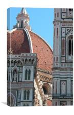 Duomo and Campanile Tower, Florence, Canvas Print