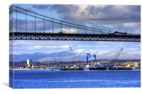 New Forth Crossing - 15 February 2013, Canvas Print