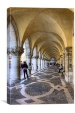 Doges Palace Colannade, Canvas Print