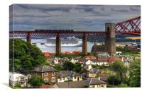 Cruise Ship in the Forth, Canvas Print