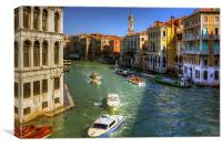Looking North on the Grand Canal, Canvas Print
