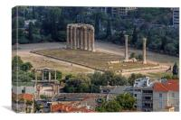 Temple of Olympian Zeus, Canvas Print
