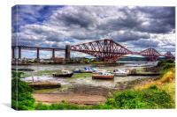 Low Tide in North Queensferry, Canvas Print