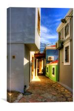 Chalki Alleyway, Canvas Print