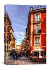 Shopping in Madrid, Canvas Print