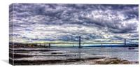 Clouds over the Bridge Panorama, Canvas Print