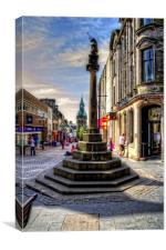 Dunfermline Mercat Cross, Canvas Print