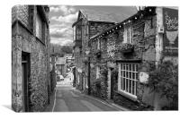 Slate Houses in the Lake District B&W, Canvas Print