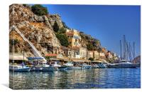 Symi Houses, Canvas Print