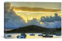Storm Clouds in the Dodecanese, Canvas Print
