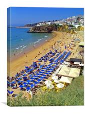 Albufeira Umbrellas, Canvas Print