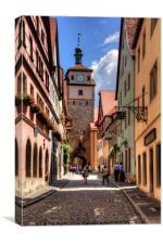 White Tower Rothenburg, Canvas Print
