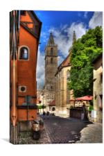 Towers of St Jakobskirche, Canvas Print