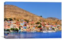 Chalki Waterfront, Canvas Print