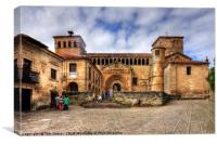 Santillana del Mar Collegiate Church, Canvas Print