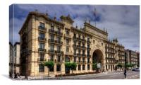 Banco Santander on Paseo Pereda, Canvas Print