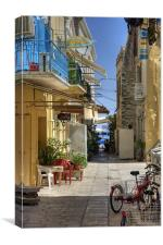 Symi Alleyway, Canvas Print