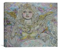 The angel of the Golden pearl., Canvas Print