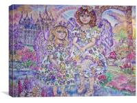 An angel of the purple., Canvas Print