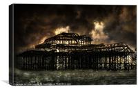 West Pier Storm Front, Canvas Print