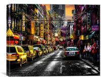Chinatown Sunset, Canvas Print