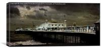 Another Very Cold Day At Brighton, Canvas Print