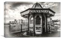 Souvenirs On The Pier At Brighton, Canvas Print