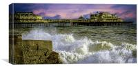 Memories Of The Old West Pier , Canvas Print