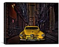 Back Alley Taxicab, Canvas Print