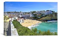 Carvoeiro View Algarve, Canvas Print