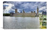 Houses Of Parliament London, Canvas Print
