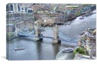 Tower Bridge From Above, Canvas Print