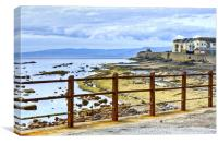 Saltcoats Rocks, Canvas Print