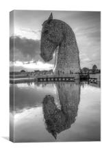Kelpies Reflection, Canvas Print